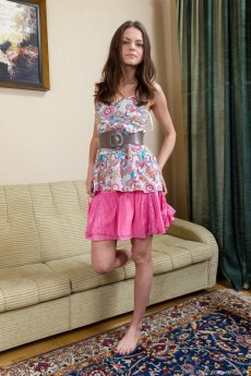 Elena May From WeAreHairy Removes Her Panties