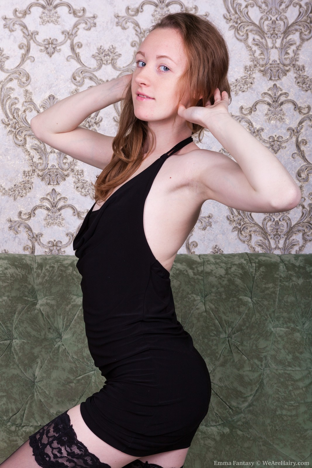 EmmaFantasy_BlackDressGreenSofa_019