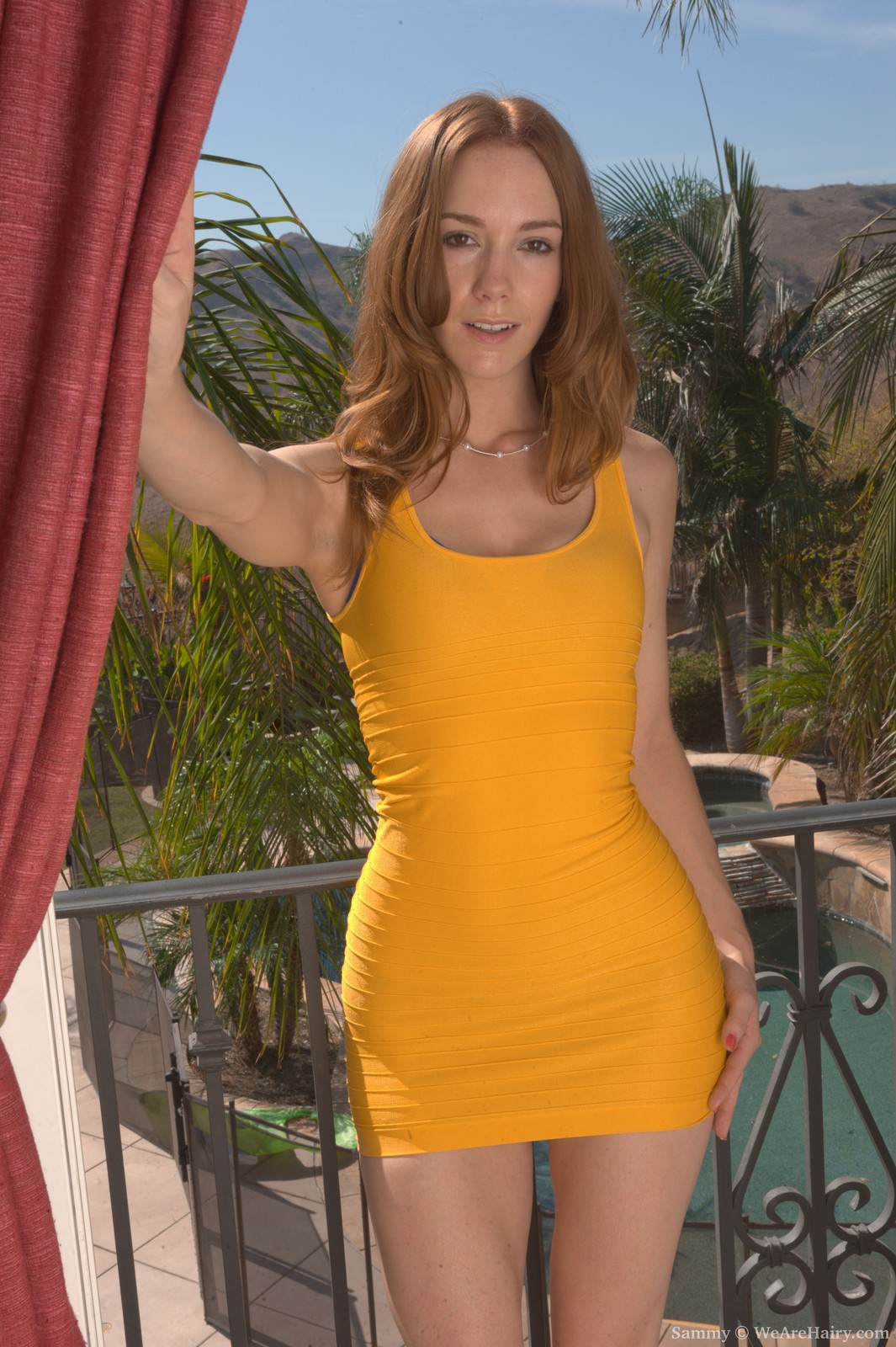 Sammy_YellowDressBlueLingerie_010