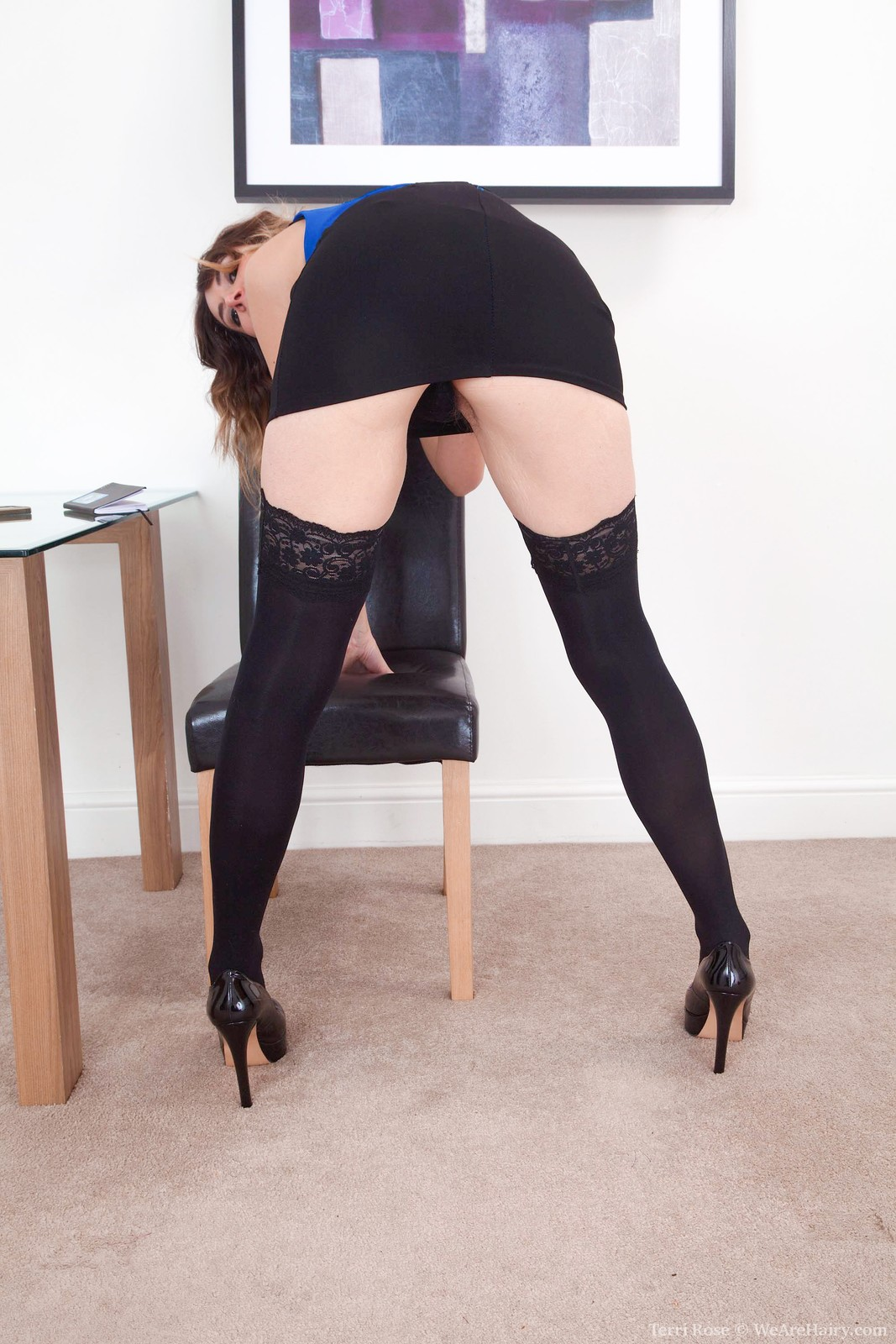 TerriRose_BlueBlouseBlackStockings_012