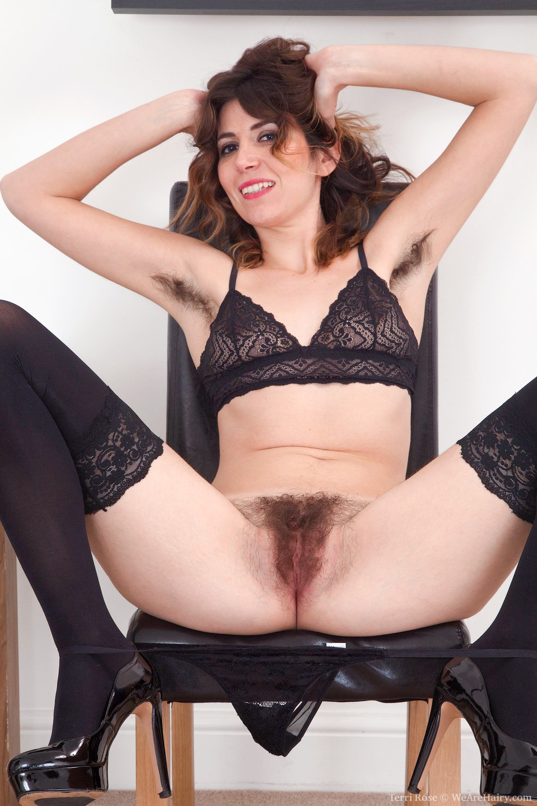 TerriRose_BlueBlouseBlackStockings_057