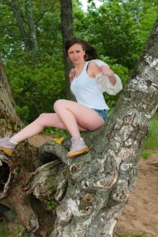 Anna R finds a secret, secluded spot in the forest