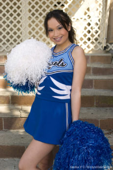 Hairy Sasha Yung's cheerleader routine