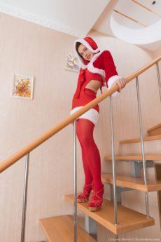 Lovely natural Chrystal Mirror is a naughty sexy bad Santa