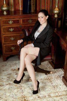 Sophia Delane is dressed for work